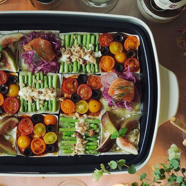 ホットプレート 本体+4種プレート 【レシピ+たこ焼きピック】 BRUNO グランデサイズ グランデ用グリルプレート 深鍋セット 大型 おしゃれ ブルーノ|monogallery|11