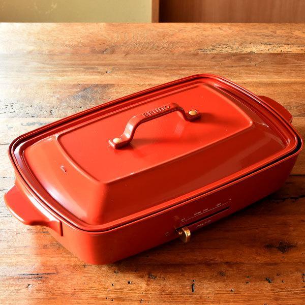 ホットプレート 本体+4種プレート 【レシピ+たこ焼きピック】 BRUNO グランデサイズ グランデ用グリルプレート 深鍋セット 大型 おしゃれ ブルーノ|monogallery|13