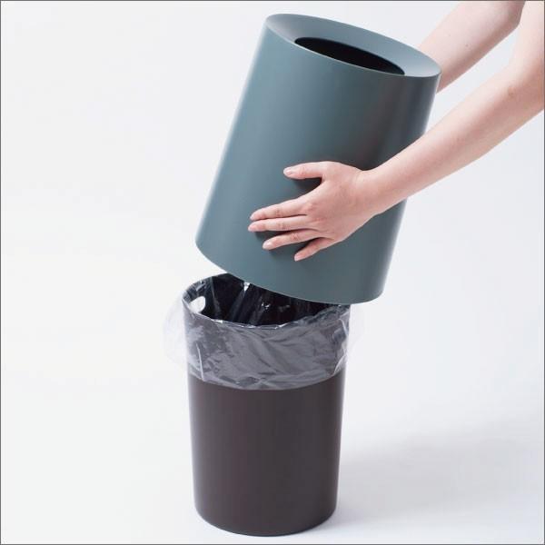 ゴミ箱 ごみ箱 ダストボックス おしゃれ ラウンド  リビング インテリア チューブラー ローズウッド TUBELOR garbage can|monogallery|03