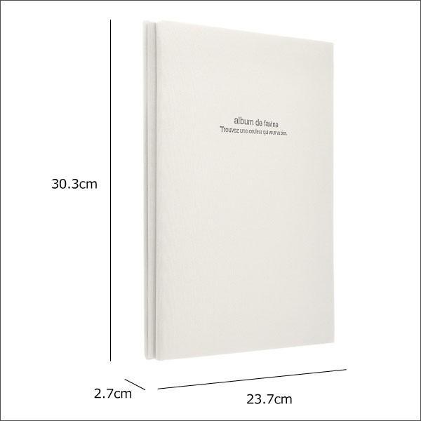 フォトアルバム 写真入れ 台紙 大容量 フリーアルバム ドゥ ファビネ A4サイズ album 5冊セット|monogallery|03