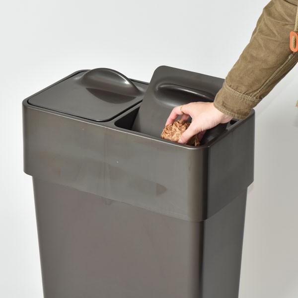 ゴミ箱 ごみ箱 ダストボックス ふた付き おしゃれ 分別型 Umbra アンブラ エコリッドカン garbage can|monogallery|06