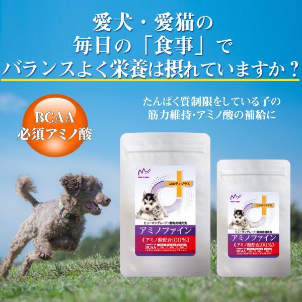犬猫ペット用BCAA/必須アミノ酸 サプリメント 健康を維持し 腎臓を健康に保つ 腎臓療法食 タンパク質制限 の子たちの栄養補給に<アミノファイン25g>|monolith-net|03