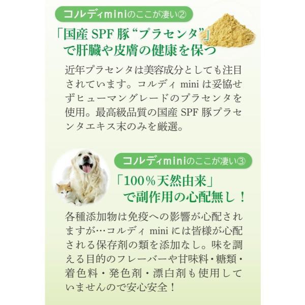 老犬 老猫 シニア用 サプリメント 健康を維持し 免疫力 肝臓 皮膚の健康を保つ。 (別途送料で)あすつく可<コルディmini>|monolith-net|06