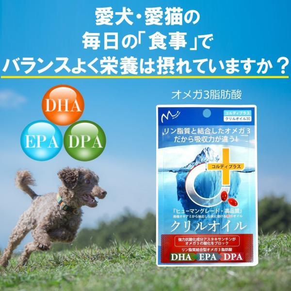 サプリメント 犬 猫 ペット 用 EPA DHA サプリ 膝 ひざ 関節 痛み 皮膚病 皮膚炎 アトピー 認知 ぼけ ボケ 痴ほう 炎症 心血管 散歩 階段 クリルオイル 30粒|monolith-net|04