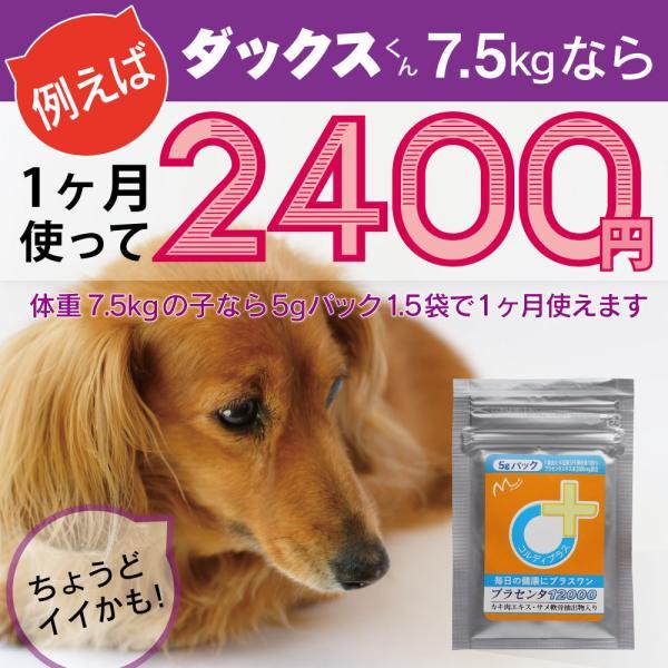 【ヒューマングレード】犬猫の健康を維持し、肝臓と皮膚を守るサプリ (別途送料で)あすつく可<プラセンタ12000(5gパック)>|monolith-net|11