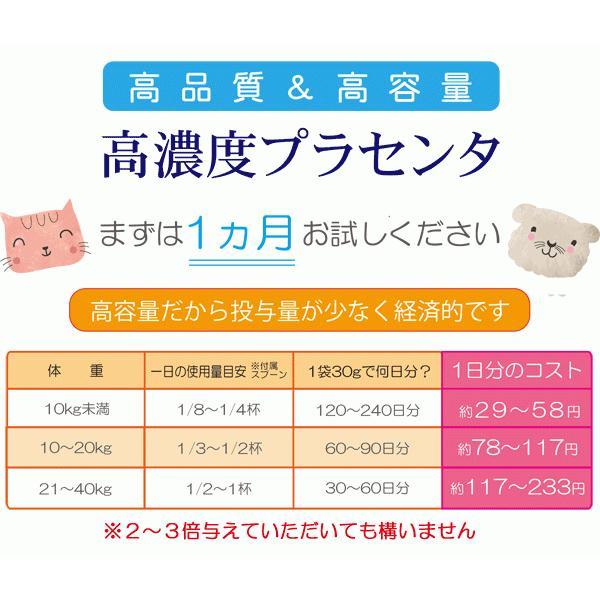 【ヒューマングレード】犬猫の健康を維持し、肝臓と皮膚を守るサプリ (別途送料で)あすつく可<プラセンタ12000(30gパック)>|monolith-net|08