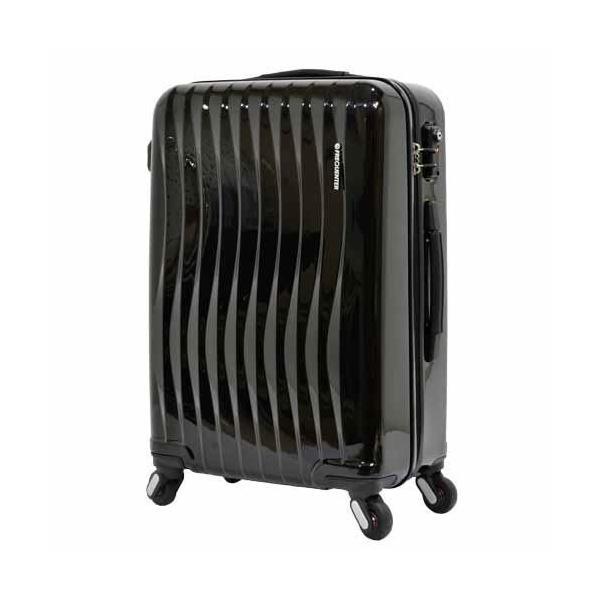 エンドー鞄 FREQUENTER wave フリクエンター ウェーブ 超静音 4輪 ファスナー スーツケース 58cm 56L クロ 1-621-BK