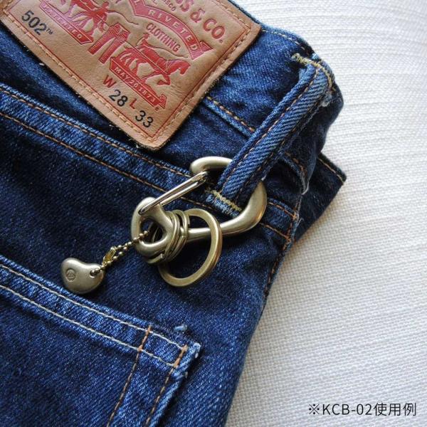 KAMISHIRAISHI acc 上白石 S字 カラビナ セット 真鍮 アクセサリー KCB-01|monosapiens|06
