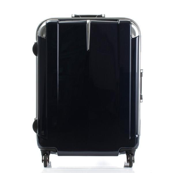 HIDEO WAKAMATSU ヒデオワカマツ ステルシー M-L スーツケース ハードキャリー TSA サイレント車輪 60L ネイビーヘアライン 85-76430-NV|monosapiens|03