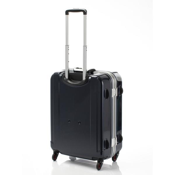 HIDEO WAKAMATSU ヒデオワカマツ ステルシー M-L スーツケース ハードキャリー TSA サイレント車輪 60L ネイビーヘアライン 85-76430-NV|monosapiens|04