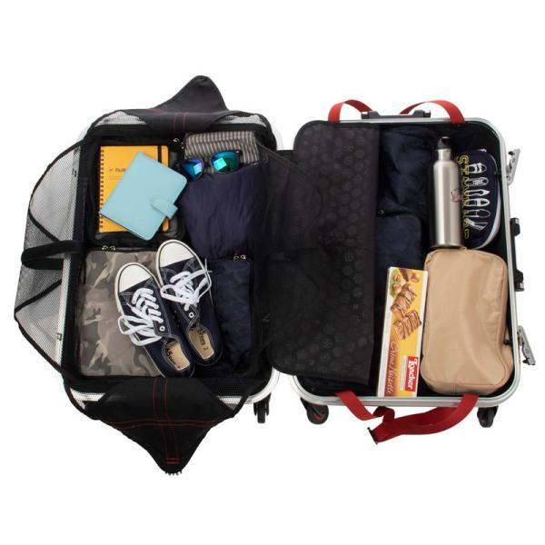 HIDEO WAKAMATSU ヒデオワカマツ ステルシー M-L スーツケース ハードキャリー TSA サイレント車輪 60L ネイビーヘアライン 85-76430-NV|monosapiens|06