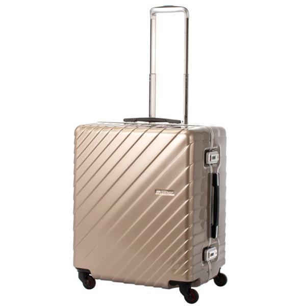 【全商品ポイント10倍】 HIDEO WAKAMATSU ヒデオワカマツ ナロースクエア 超軽量 スーツケース LL ハードキャリー TSA 80L ゴールド 85-76530-GD