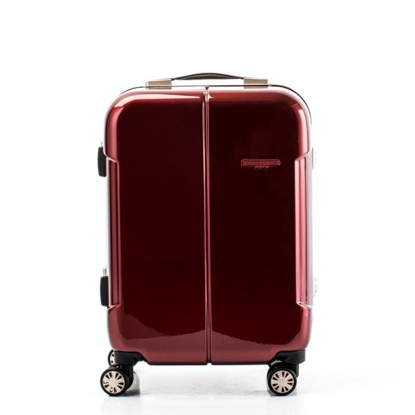 【全商品ポイント10倍】 HIDEO WAKAMATSU ヒデオワカマツ ナローII 超軽量 スーツケース S ハードキャリー TSA 機内持ち込み 36L ワイン 85-76360-WN|monosapiens|02