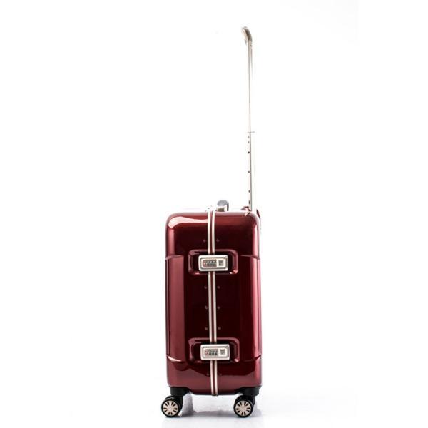 【全商品ポイント10倍】 HIDEO WAKAMATSU ヒデオワカマツ ナローII 超軽量 スーツケース S ハードキャリー TSA 機内持ち込み 36L ワイン 85-76360-WN|monosapiens|03