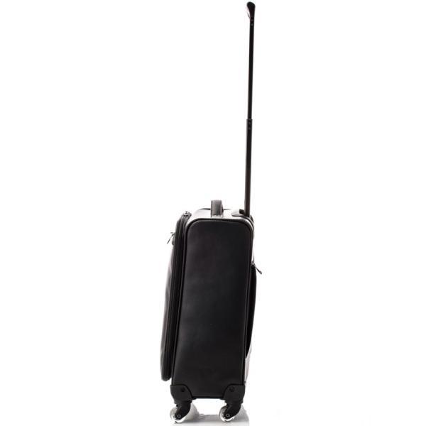【全商品ポイント10倍】 HIDEO WAKAMATSU ヒデオワカマツ アイラ パンチングレザー調 キャリーケース 4輪 S 機内持ち込み TSA 28L ブラック 85-76490-BK|monosapiens|04