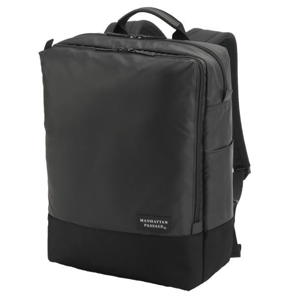MANHATTAN PASSAGE マンハッタンパッセージ Well-Organized City Backpack Plus2 ウェルオーガナイズド シティ バックパック ビジネス リュクサック A4 ブラック #3216B-BK