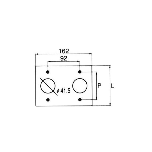 コンセント用プレート 引掛形20A・30A用 アメリカン電機 161-2S