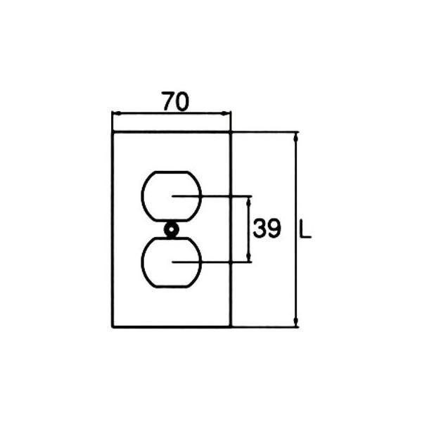 コンセント用プレート 引掛形・抜止形15A複式用 アメリカン電機 101S
