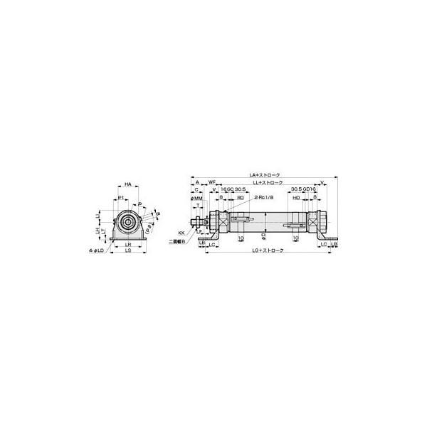 タイトシリンダ CMK2基本(片ロッド)ベース CMK2-LB-32 CKD CMK2-LB-32-100-T3H-T-Y