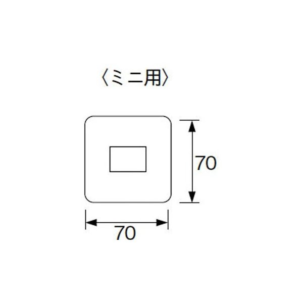 コスモシリーズ スクエアコンセントプレート パナソニック(Panasonic) WTF8071F ミニプレート