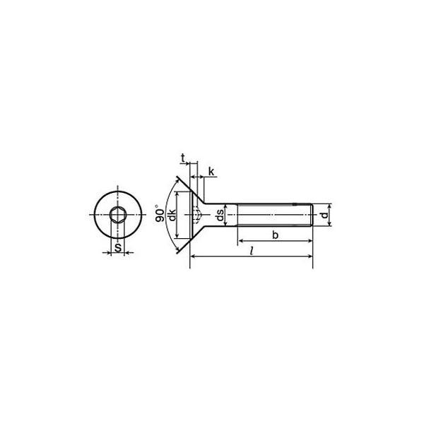 SUS-8.8六角穴付皿ボルト(SUS316L)(小箱) BUMAX M12×45