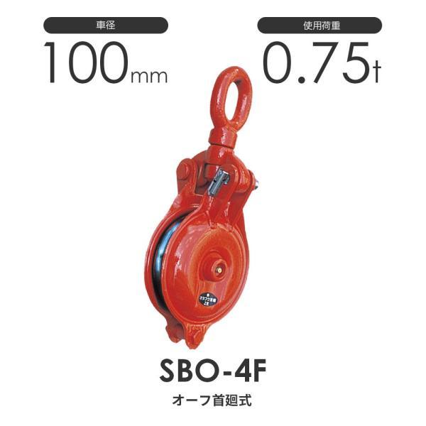 オタフク滑車 オーフ型首廻式 SBO4F(車径100mm