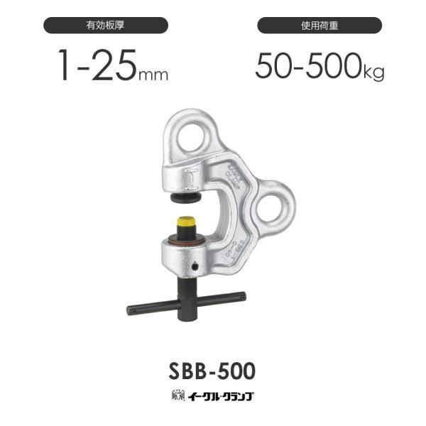 イーグルクランプ 鉄鋼用クランプ ねじ式全方向 SBB-