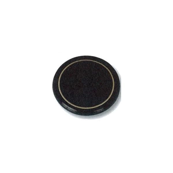 よし与工房 業務用 陶器風 メラミン ケーキトレー 丸型 30cm ブラック 金線入 CT-3000-KS