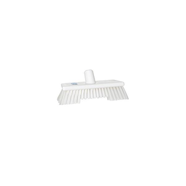 ヴァイカン 業務用 清掃用品 掃除道具 パーツ 二段構造 デッキブラシ No.7044 ホワイト