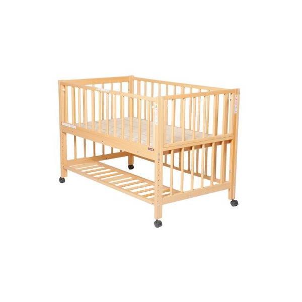 添い寝ベッドS型スクレ サワベビー ベビーベッド キッズベッド キャスター付き日本製|monreve|02
