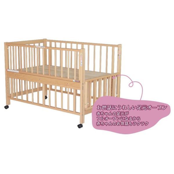 添い寝ベッドS型スクレ サワベビー ベビーベッド キッズベッド キャスター付き日本製|monreve|03