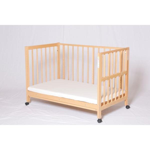 添い寝ベッドS型スクレ サワベビー ベビーベッド キッズベッド キャスター付き日本製|monreve|06