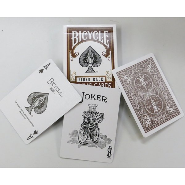 トランプ バイスクル Poker deck Brown back|monster-cards|03