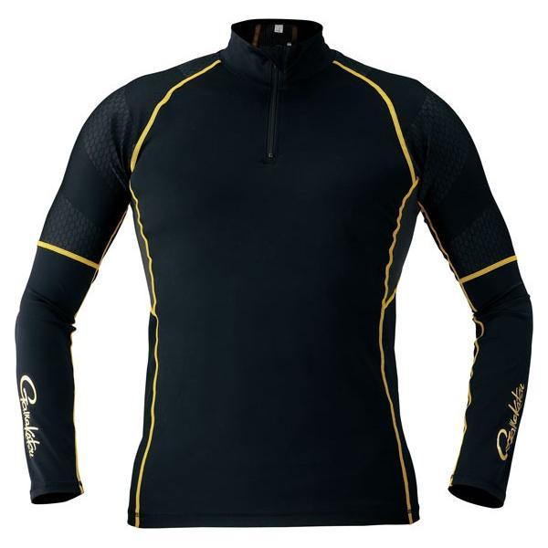 がまかつ(Gamakatsu) コンプレッションジップシャツ GM3387 ブラック 3L