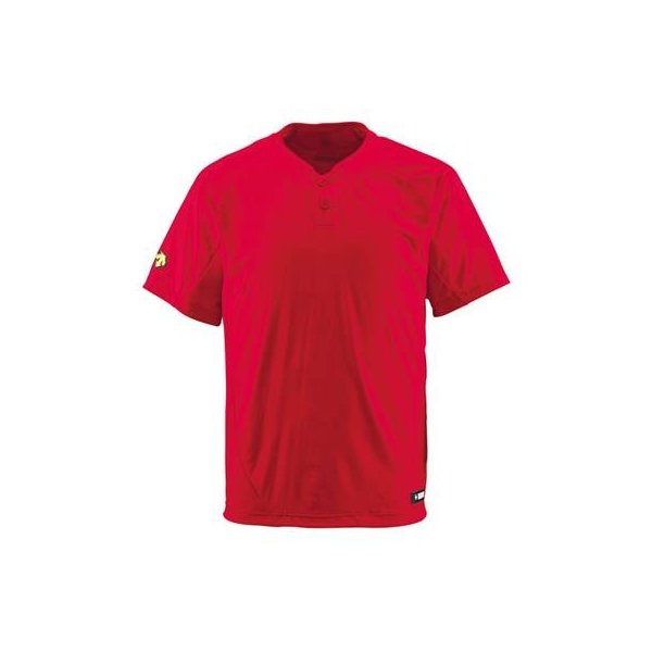 DESCENTE(デサント) ベースボールシャツ(2ボタン) DB201 レッド(RED) M