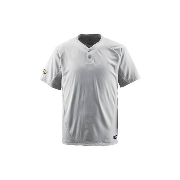 DESCENTE(デサント) ベースボールシャツ(2ボタン) DB201 シルバー(SLV) XO