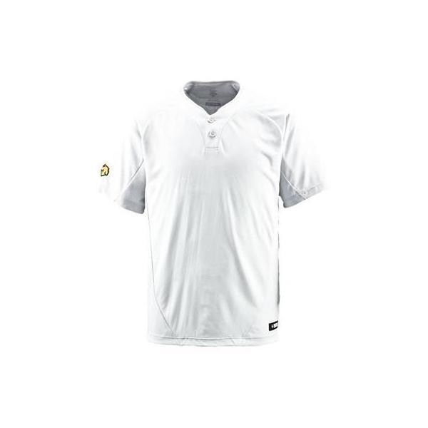 DESCENTE(デサント) ベースボールシャツ(2ボタン) DB201 Sホワイト(SWHT) XO