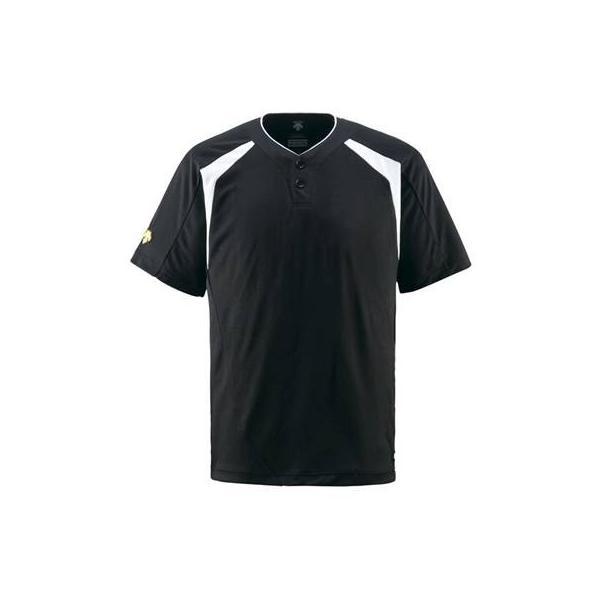 DESCENTE(デサント) ベースボールシャツ(2ボタン) DB205 ブラック(BLK) S
