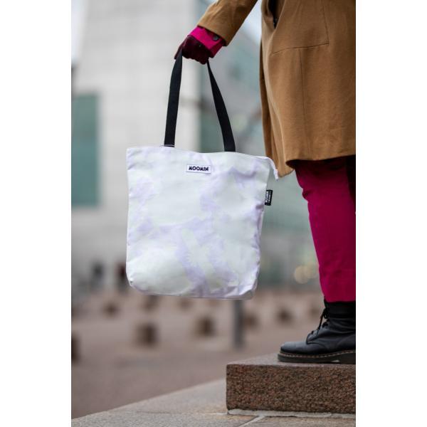 (Moomin by Mozo)フィンランド発・ムーミンキャンバストートバッグ (スモールサイズ・ホワイトシャドウ)