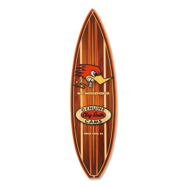 Clay Smith Woodie Surfboard メタル サイン mooneyes