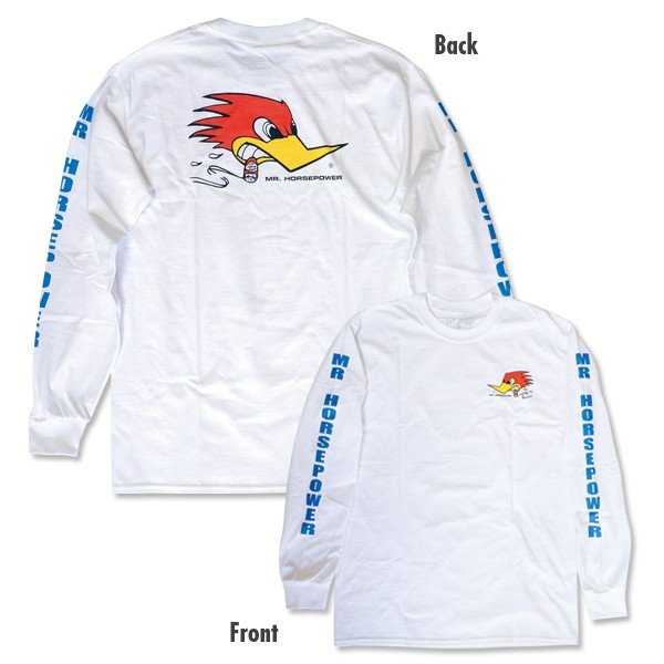 XXLサイズ クレイスミス ロング スリーブ Tシャツ ホワイト|mooneyes