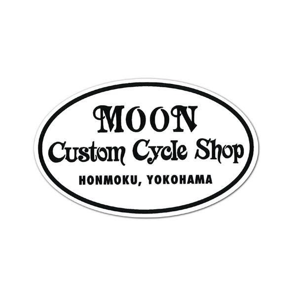 MOON Custom Cycle Shop ステッカー mooneyes