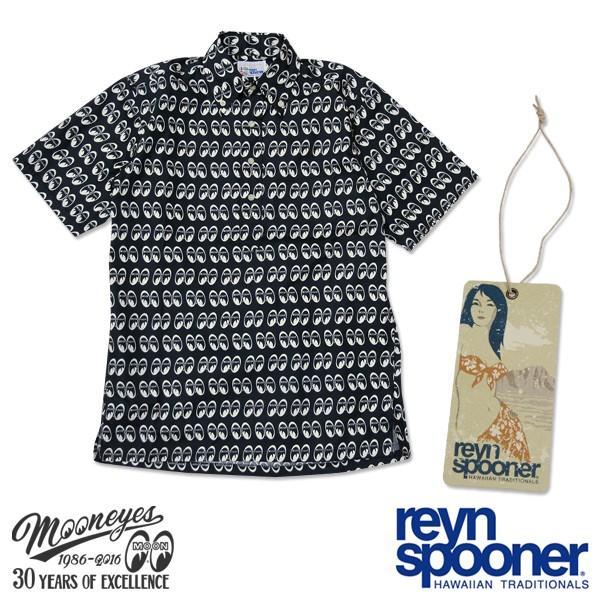 Reyn Spooner / MOON Equipped ショートスリーブ ボタンダウン プルオーバー シャツ (30th Anniversary)|mooneyes