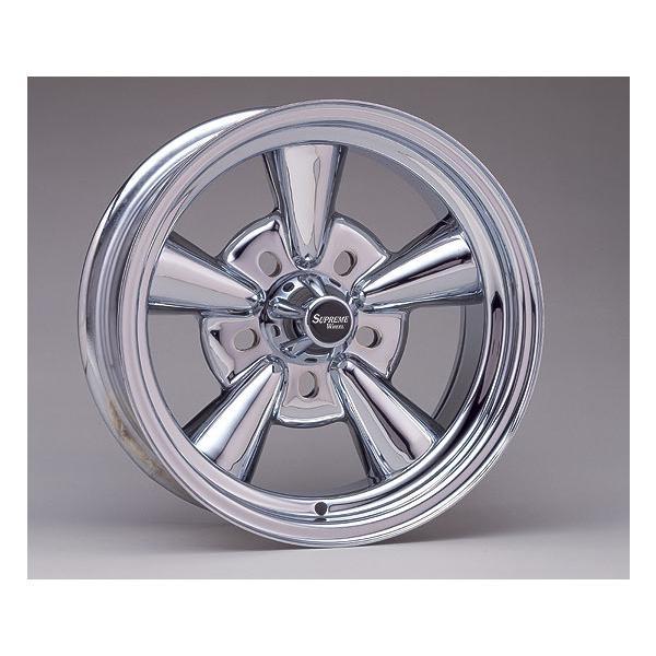Supreme Chromed Wheel 13×7 Rev. BS|mooneyes