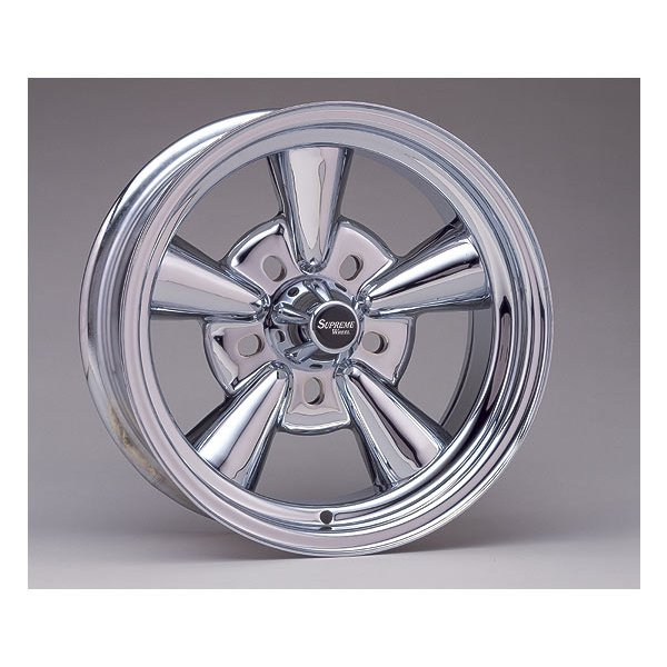 Supreme Chromed Wheel 14×6 Rev. BS mooneyes