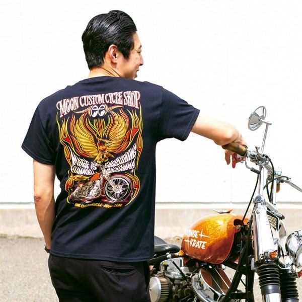 MOON Custom Cycle Shop Eagle Tシャツ|mooneyes