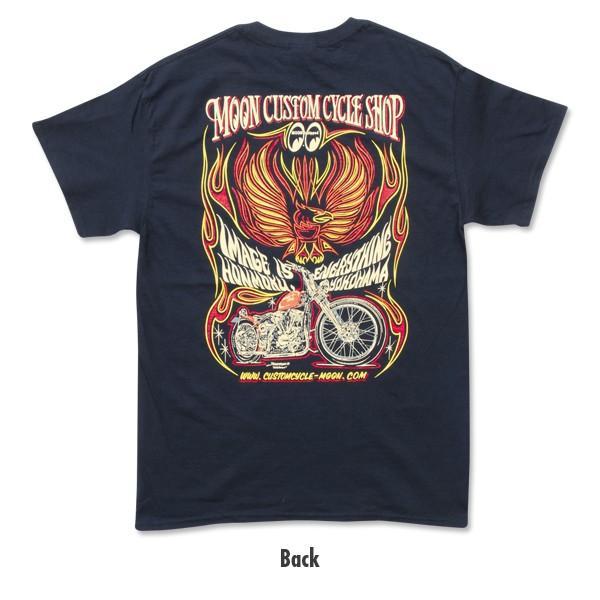 MOON Custom Cycle Shop Eagle Tシャツ|mooneyes|04