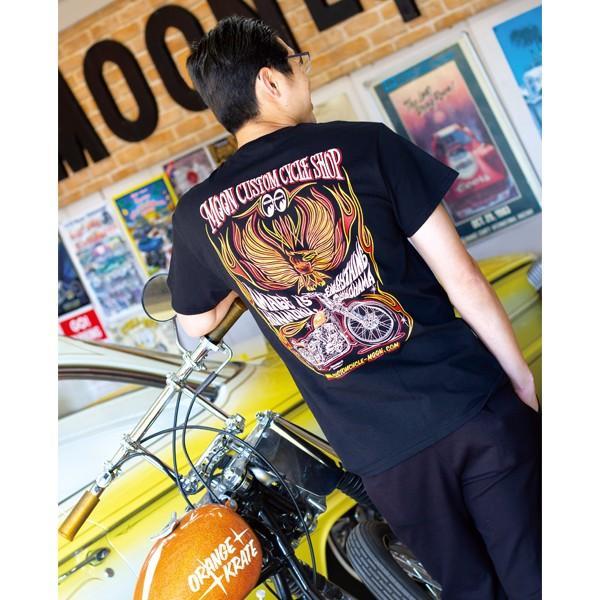 MOON Custom Cycle Shop Eagle Tシャツ|mooneyes|08