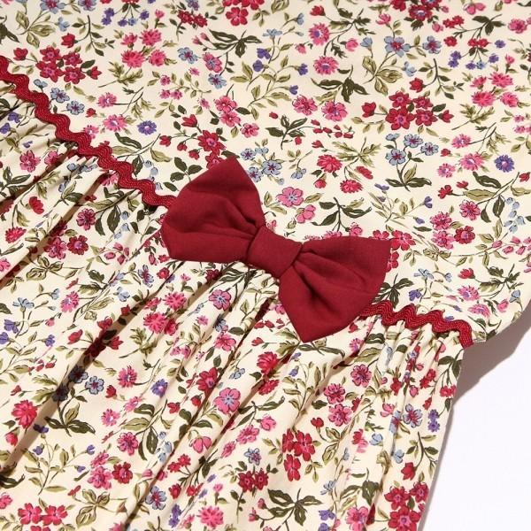 c31db60266d81 ... 子供服 女の子 ワンピース・ジャンパースカート ノースリーブ 日本製 綿100% 小花柄 ギャザー ...