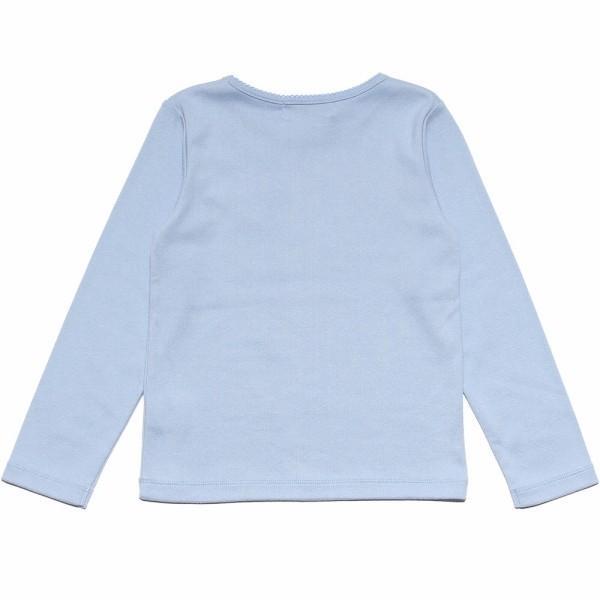 子供服 女の子 Tシャツ 長袖 普段着 通学着 リボンつき微起毛素材 ショッキングピンク ブルー 120cm 130cm 140cm 150cm 160cm アイアムマリリン IamMarilyn|moononnon|03